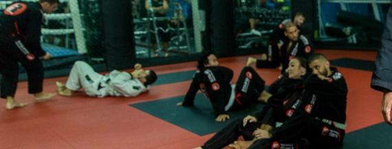 Senior Jiu Jitsu class at Club Physical