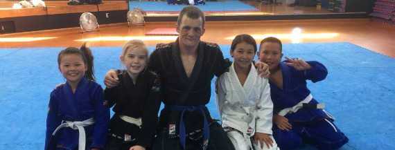 Kids Jiu Jitsu class at Club Physical